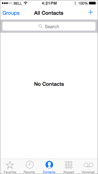Blank Slate Contacts