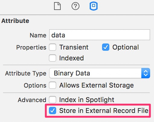 Core Data Store In External Record File