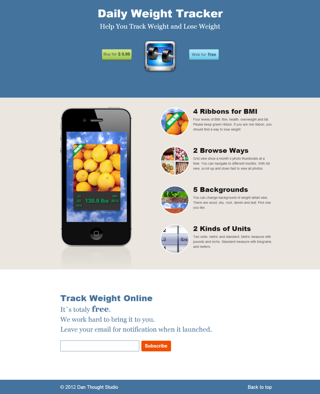 Daily Weight Tracker V1.6 Website 2